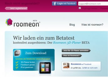 Roomeon mit Facebook-Login