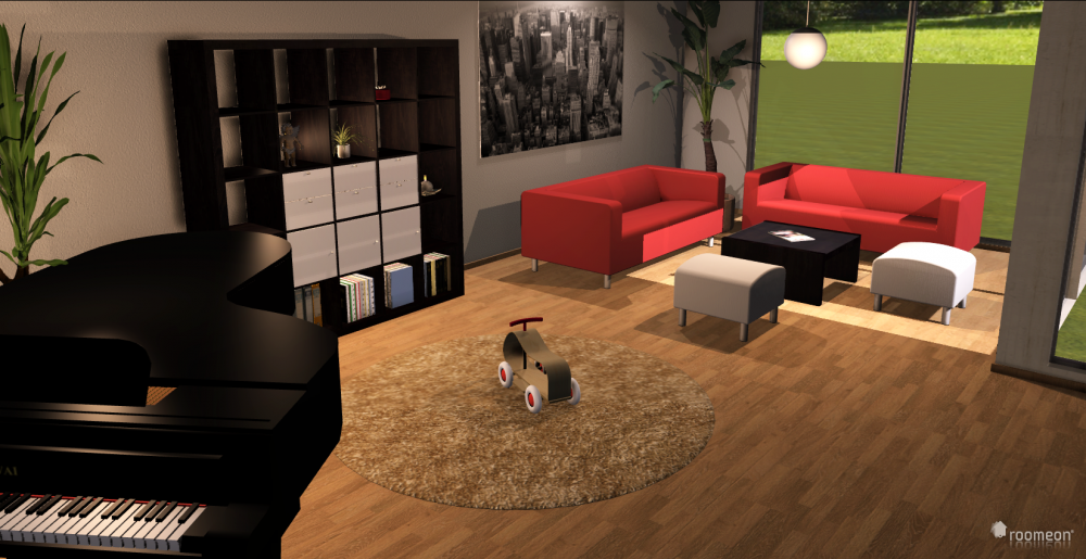 Regal und Sofas in der 3D Software